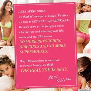 One ad that is part of the #AerieReal campaign