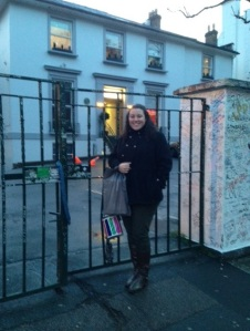 Outside Abbey Road Studio, where the Beatles recorded. So cool!