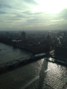 View from the top of the London Eye, my favorite!