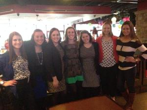 All of the PRSSA alum with the chapter president.