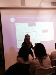 Alexa sharing great tips at the event hosted by Levo League