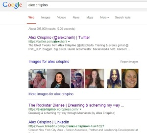 My results when I Googled myself